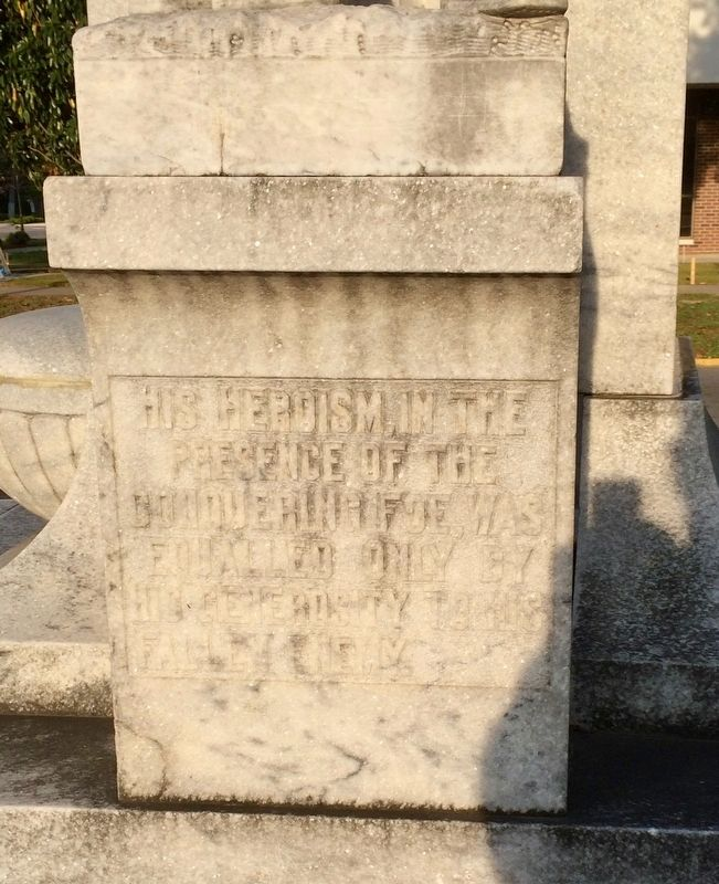 Milledgeville Confederate Monument (East side with soldier) image. Click for full size.