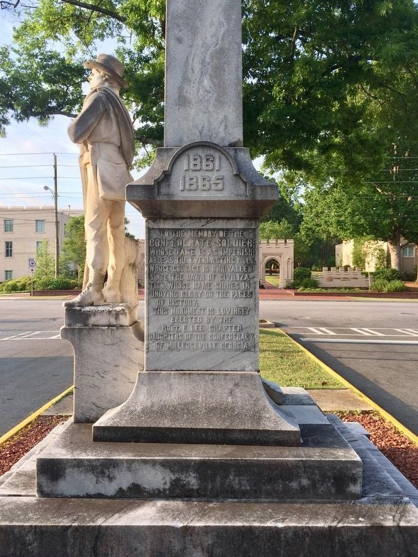 Milledgeville Confederate Monument (North side) image. Click for full size.