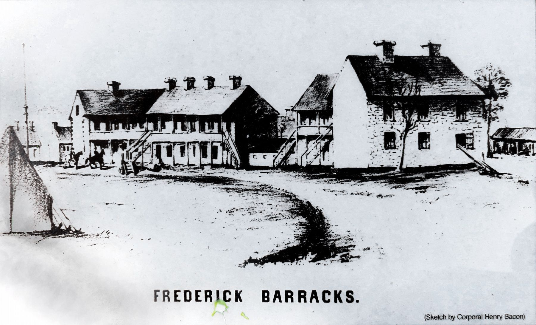 Frederick Barracks image. Click for full size.