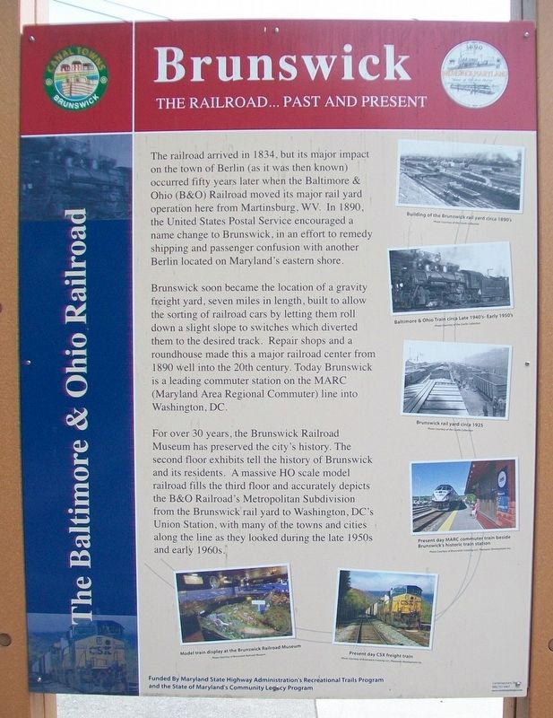 The Baltimore & Ohio Railroad Marker image. Click for full size.