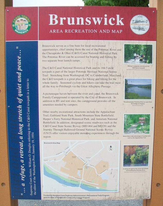 Brunswick Area Recreation and Map Marker [Side B] image. Click for full size.