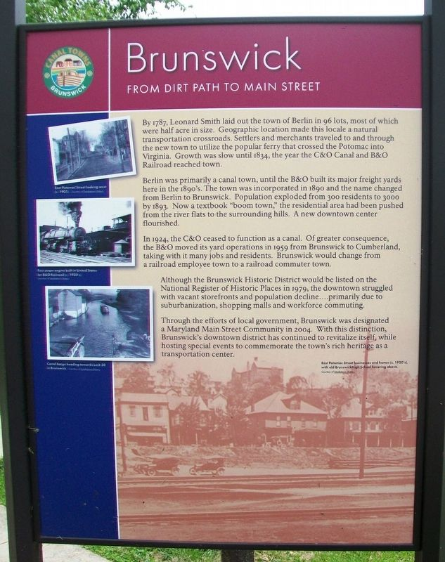 From Dirt Path to Main Street Marker (Side A) image. Click for full size.