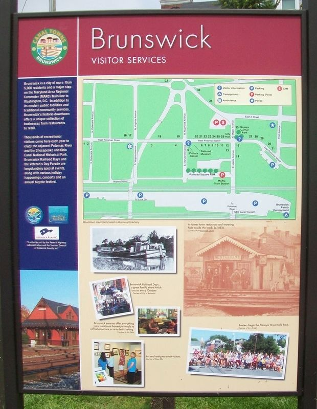 Brunswick Visitor Services Marker (Side B) image. Click for full size.