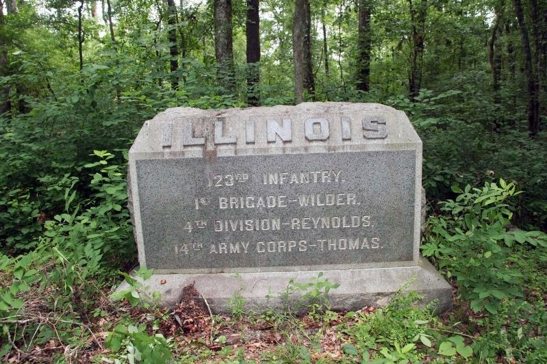 123rd Illinois Infantry Monument Marker image. Click for full size.