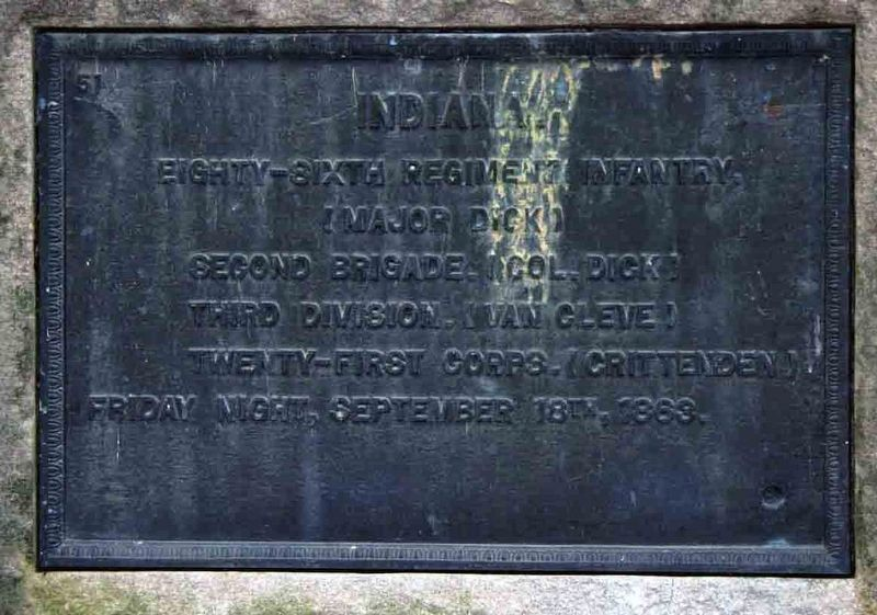 86th Indiana Infantry Regiment Marker Marker image. Click for full size.