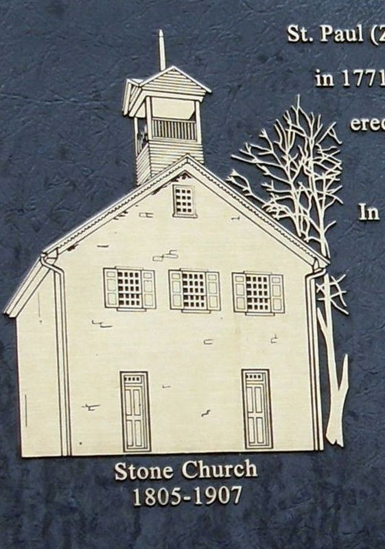 St. Paul's (Ziegler's) Lutheran Church Marker insert image. Click for full size.