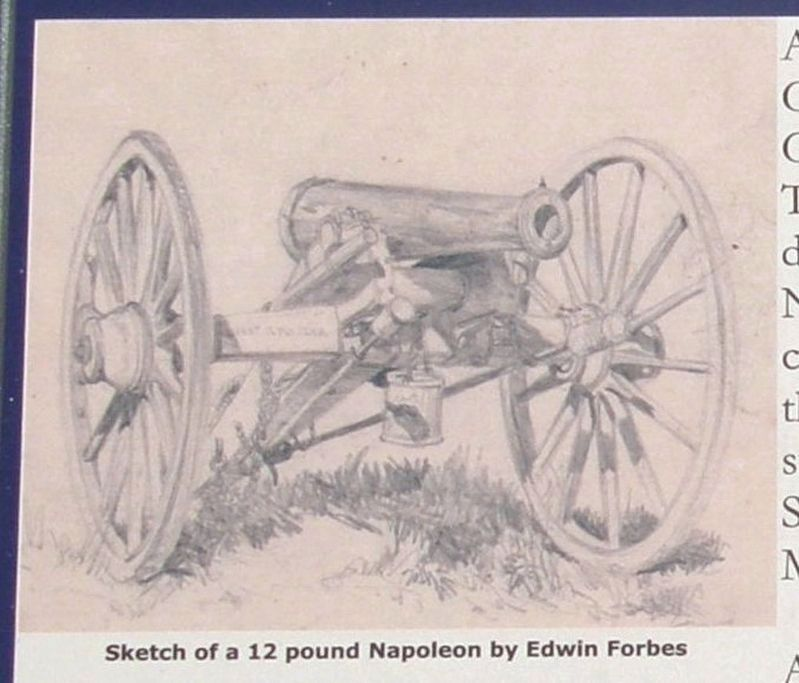 Sketch of a 12 pound Napoleon by Edwin Forbes. image. Click for full size.