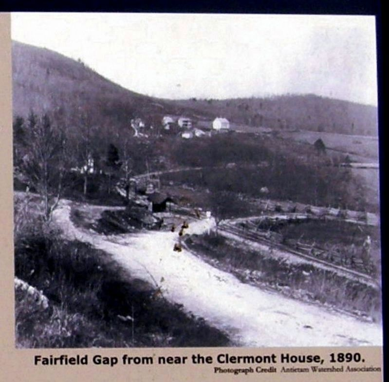 Fairfield Gap from near the Clermont House, 1890. image. Click for full size.