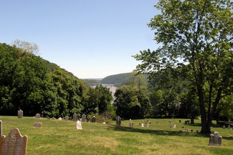 View from the headstone image. Click for full size.