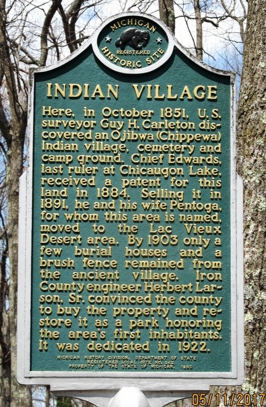 Indian Village Marker image. Click for full size.