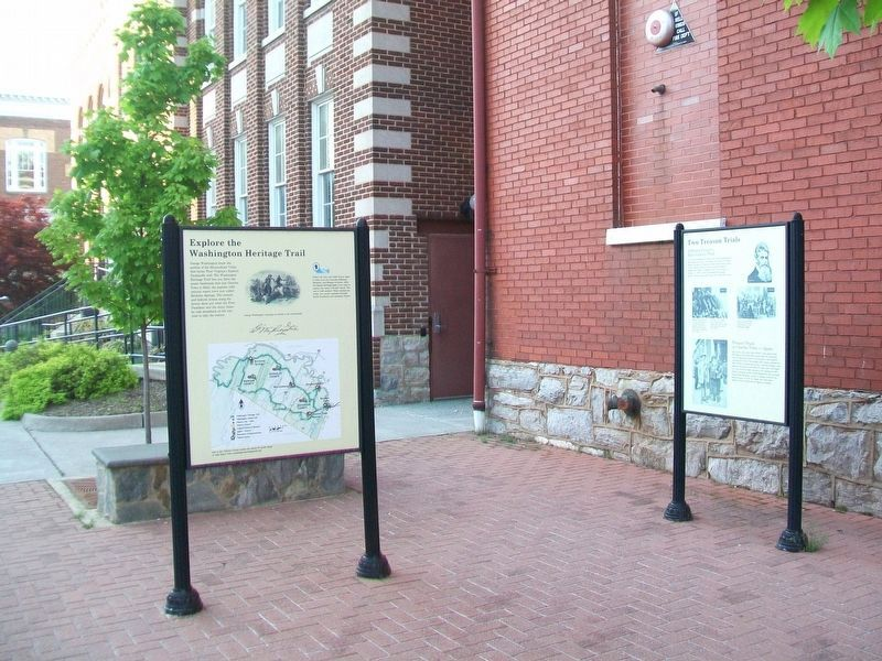 Explore the Washington Heritage Trail / Afoot in Historic Charles Town Marker image. Click for full size.