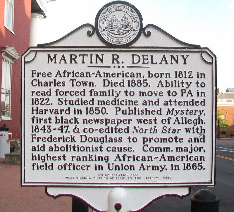 Martin R. Delany Marker image. Click for full size.