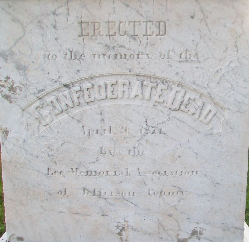 Confederate Dead Monument Dedication image. Click for full size.