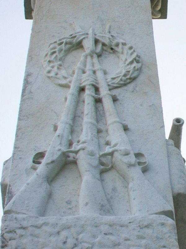 Confederate Dead Monument Stacked Muskets image. Click for full size.