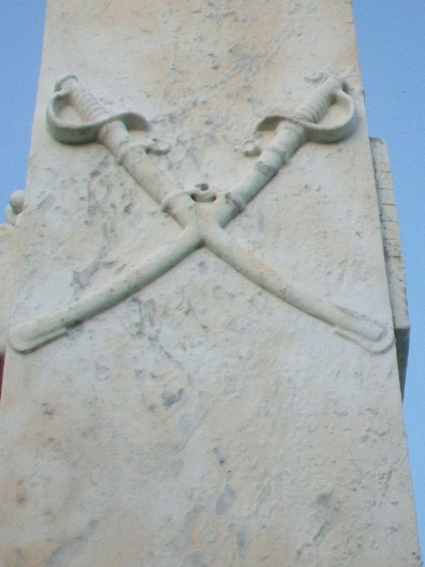 Confederate Dead Monument Crossed Sabers image. Click for full size.