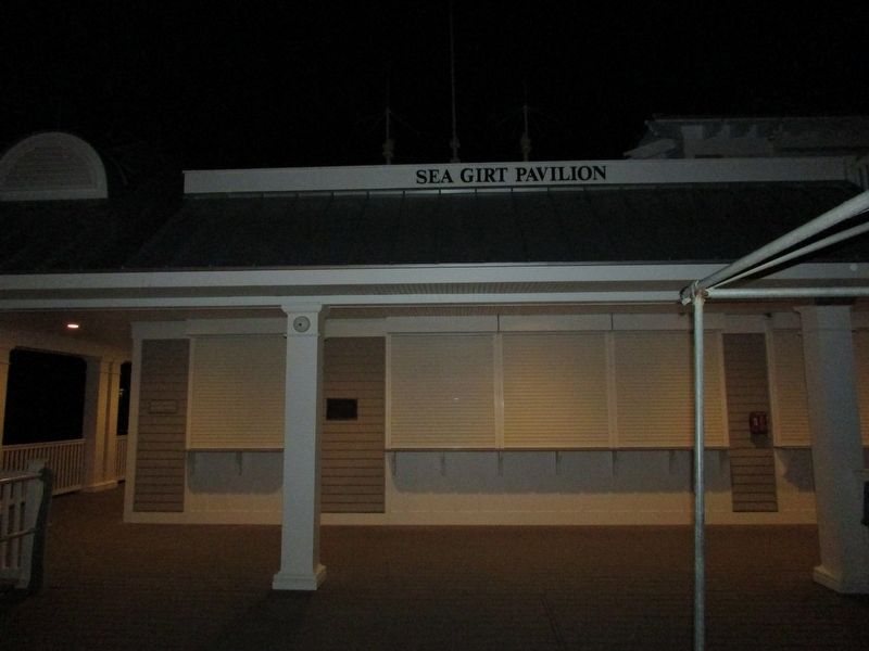 Marker in the Sea Girt Pavilion image. Click for full size.