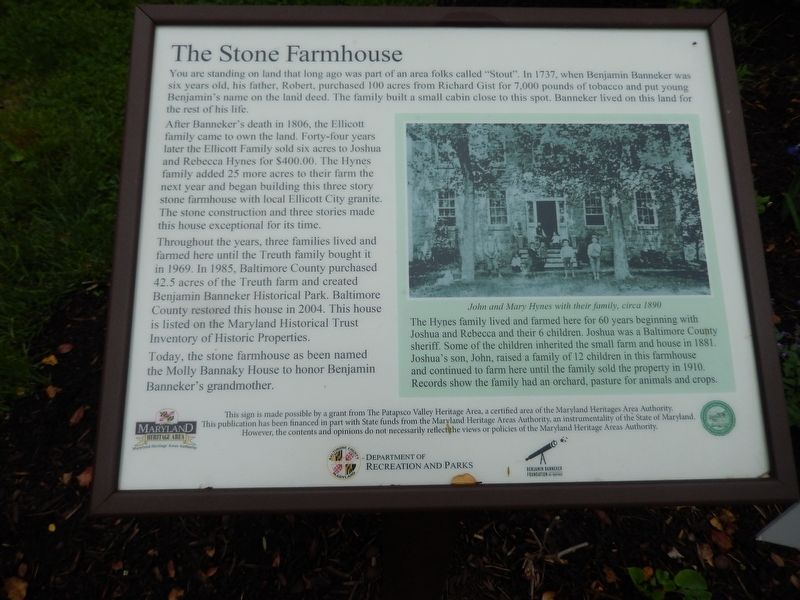 The Stone Farmhouse Marker image. Click for full size.