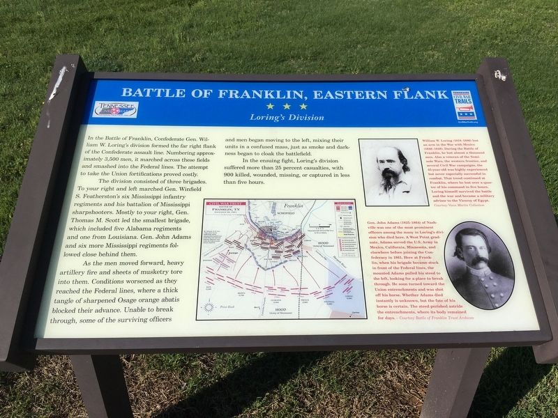 Eastern Flank Battlefield Park Marker image. Click for full size.