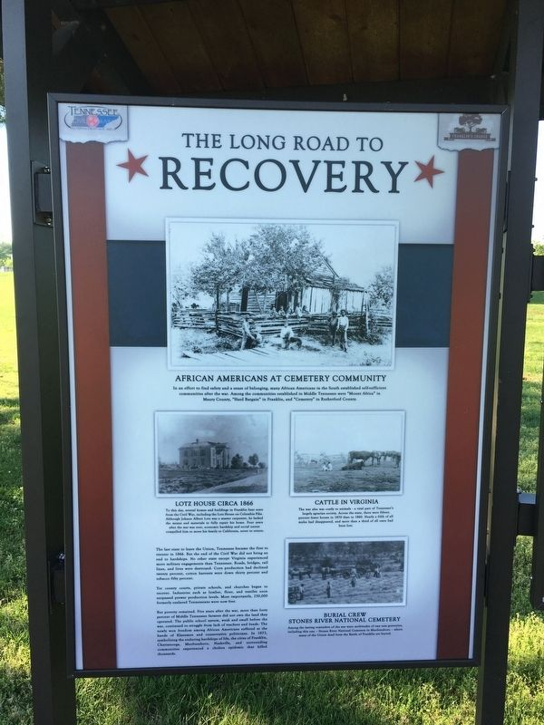 The Long Road to Recovery Marker image. Click for full size.