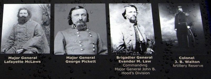 Longstreet's senior commanders image. Click for full size.