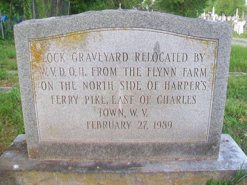 Lock Graveyard Memorial Marker image. Click for full size.