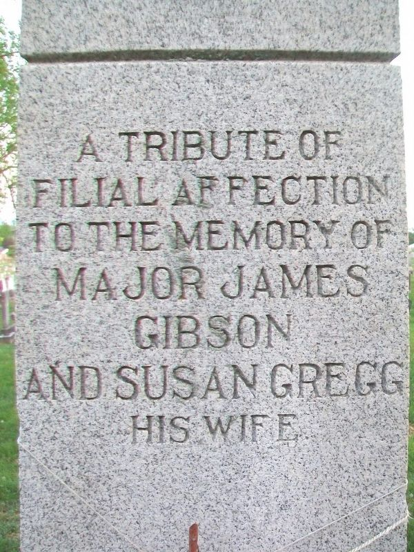 Major James Gibson Monument (North Side) image. Click for full size.