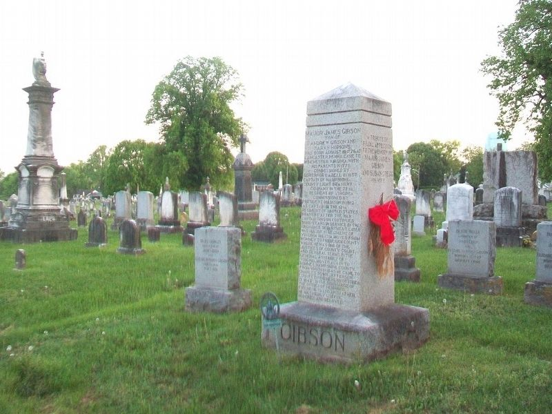 Major James Gibson / Gibson Family Monument image. Click for full size.