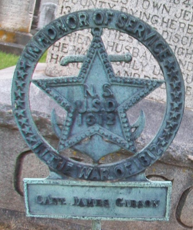 Major James Gibson N.S.U.S.D. of 1812 Marker image. Click for full size.