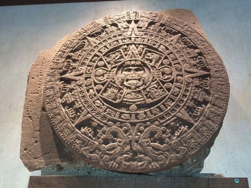 The Aztec Sun Stone image. Click for full size.