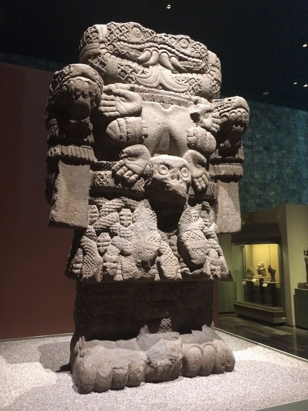 Coatlicue at The National Anthropology Museum of Mexico image. Click for full size.