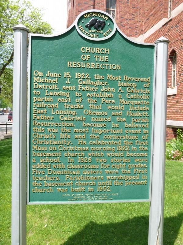 Church of the Resurrection Marker image. Click for full size.