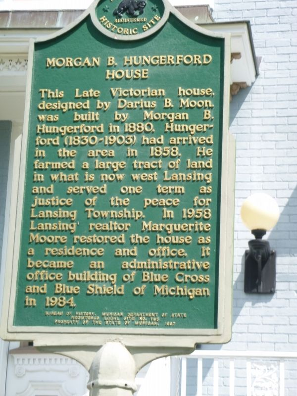 Morgan B. Hungerford House Marker image. Click for full size.