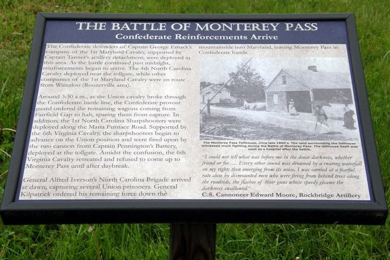 The Battle of Monterey Pass Marker image. Click for full size.