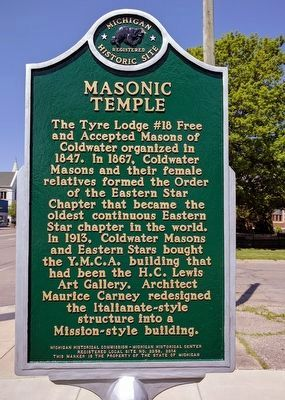 H.C. Lewis Art Gallery / Masonic Temple Marker image. Click for full size.