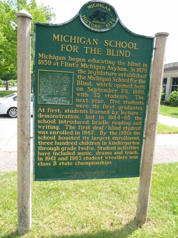Michigan School for the Blind / Administration Building Marker image. Click for full size.