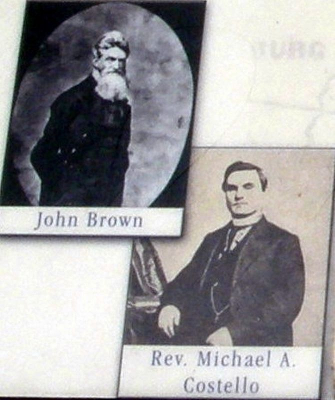Insert - John Brown and Father Costello image. Click for full size.