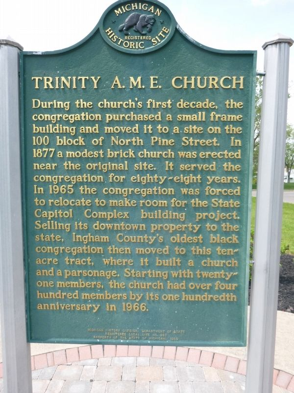 Trinity A.M.E. Church Marker image. Click for full size.