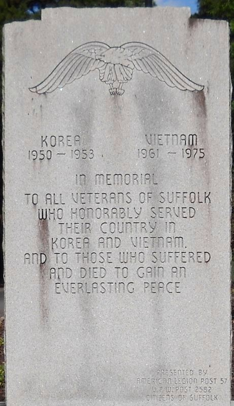 Korea and Vietnam Wars Memorial image. Click for full size.