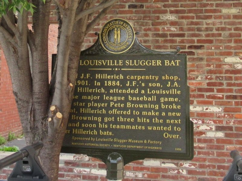 First Louisville Slugger Bat Marker image. Click for full size.