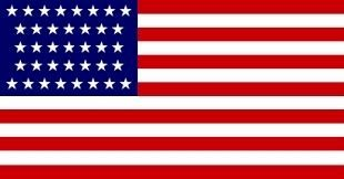 The 37-star U.S. Flag image. Click for full size.
