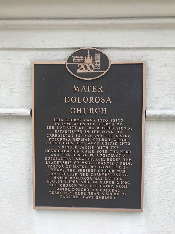 Mater Dolorosa Church Marker image. Click for full size.