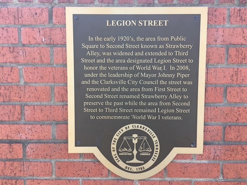 Legion Street Marker image. Click for full size.