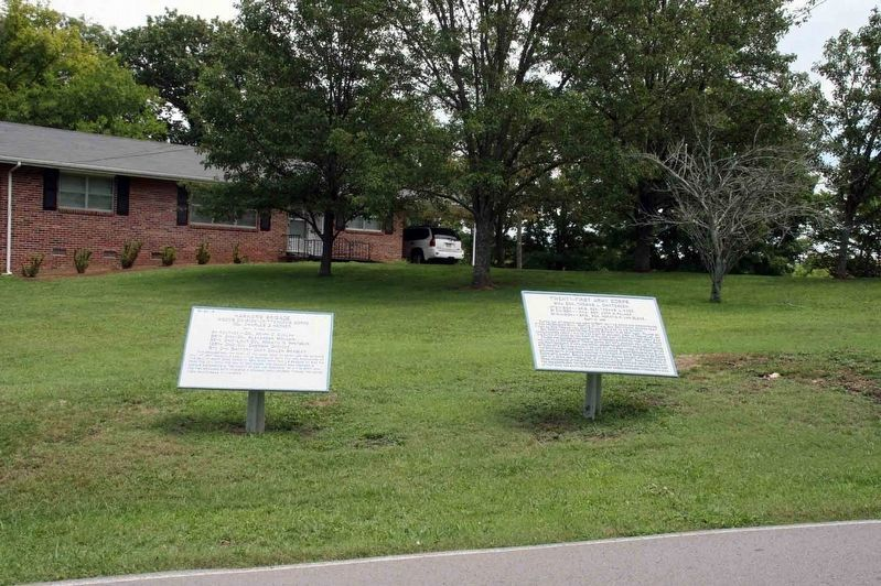 Twenty-First Army Corps and Harker's Brigade Markers The plaques as they appeared in 2009. Note they image. Click for full size.
