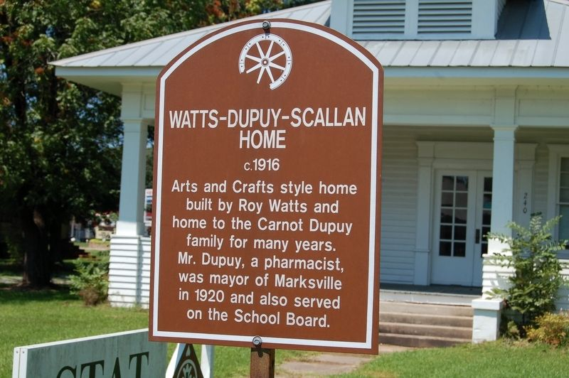 Watts-Dupuy-Scallan Home Marker image. Click for full size.