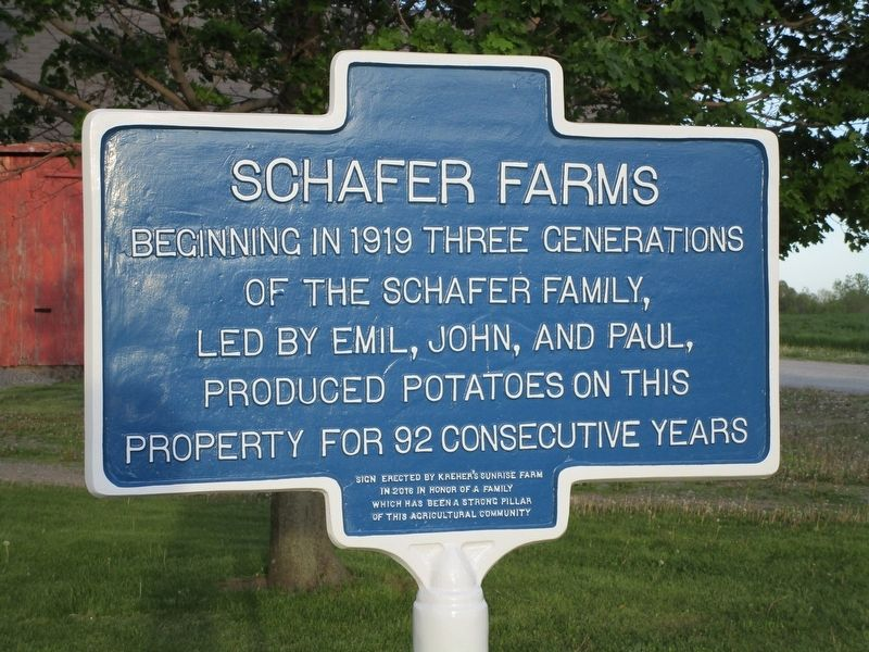 Schafer Farms Marker image. Click for full size.