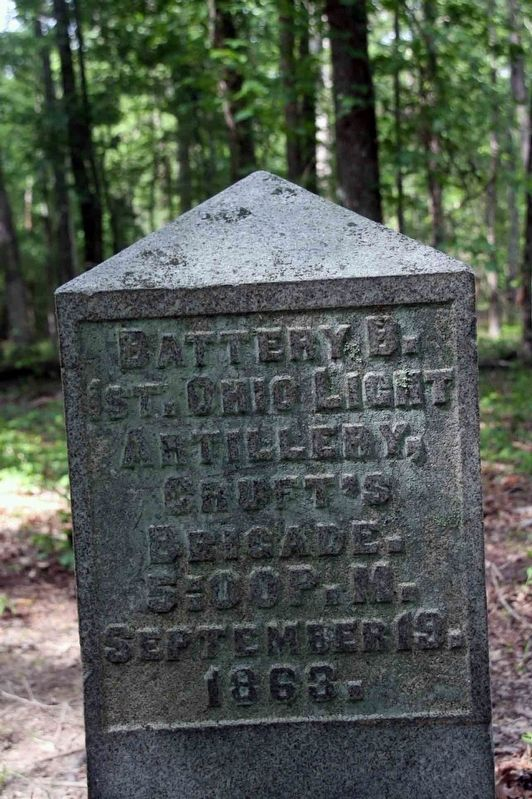 Battery B, 1st Ohio Light Artillery Marker Marker image. Click for full size.