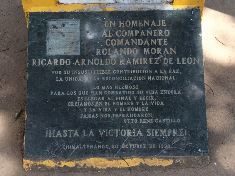 Chimaltenango Memorial to the Victims of Guatemala's Armed Conflict Marker image. Click for full size.