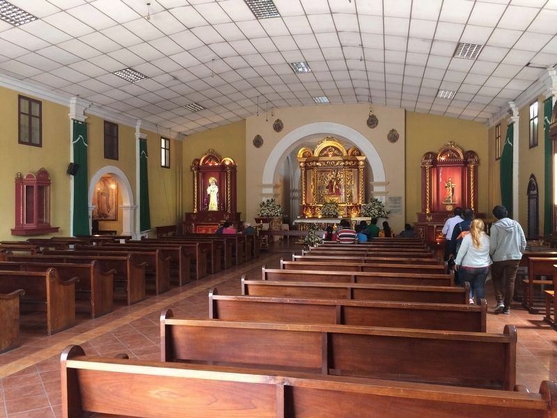 Interior of the Catholic Church of San Bartolomé Becerra image. Click for full size.