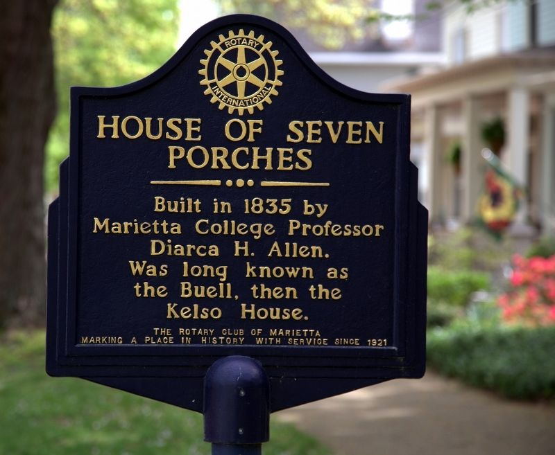 House of Seven Porches Marker image. Click for full size.
