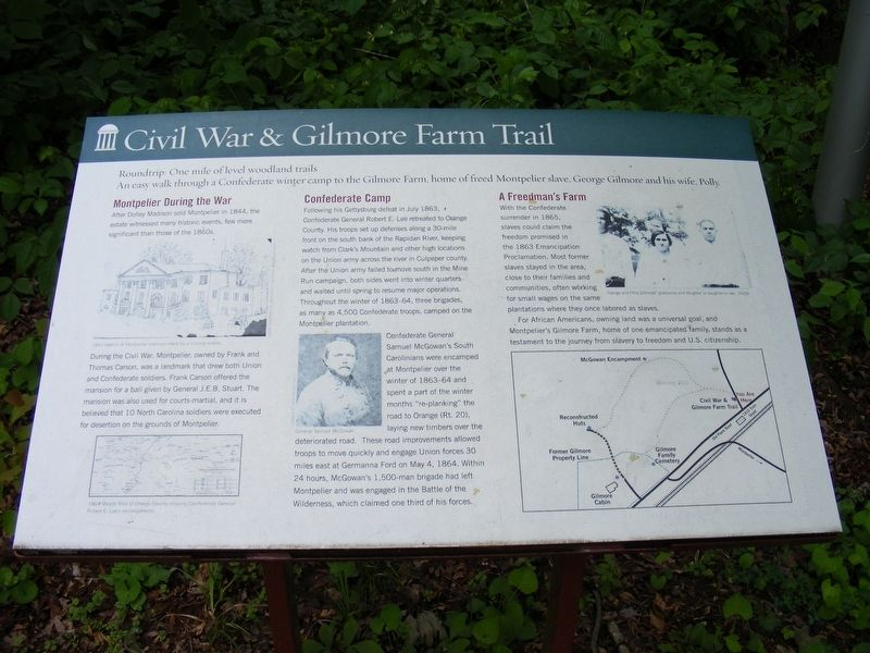 Civil War and Gilmore Farm Trail Marker image. Click for full size.